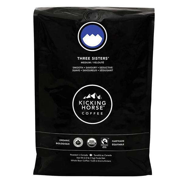 Kicking Horse Coffee, Three Sisters, Medium Roast, Whole Bean, 2.2 lb