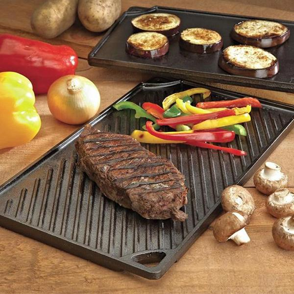 Lodge Cast Iron Reversible Grill Griddle for Multi-use Cooking Pre-Seasoned