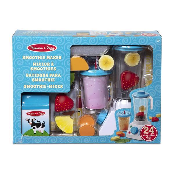 Melissa & Doug Wooden Smoothie Maker Blender Set with Play Food