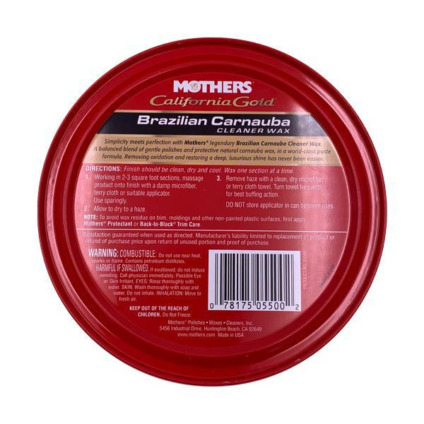Mothers California Gold Brazilian Carnauba Cleaner Wax