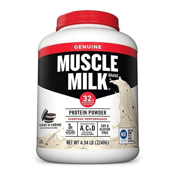Muscle Milk Genuine Protein Powder, Cookies 'N Crème, 32g Protein, 4.94 Pound, 32 Servings