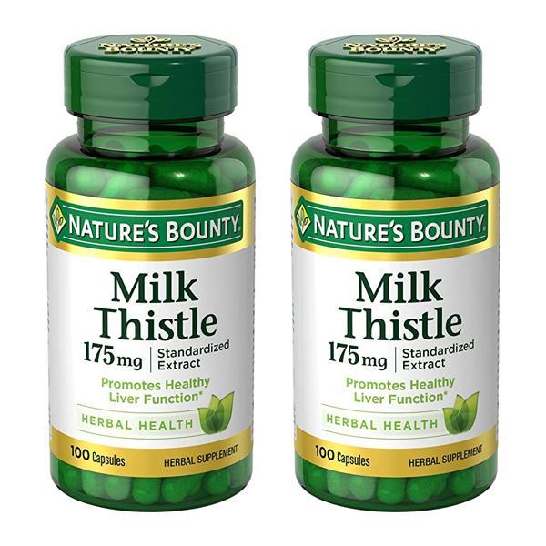 Nature's Bounty Milk Thistle 175 mg Supplement 100 Count - 2 Pack