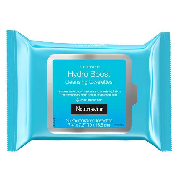 Neutrogena Hydro Boost Facial Cleansing Wipes 25 Each - 3 Pack