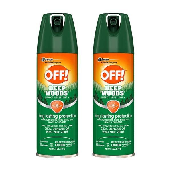 OFF! Long Lasting Deep Woods Insect Repellent V, 6oz - 2 Pack