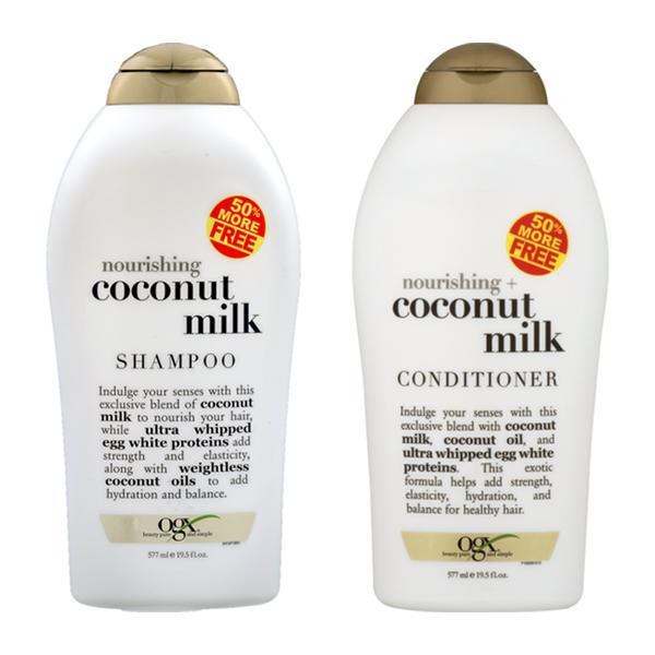 OGX Organix Nourishing Coconut Milk Shampoo & Conditioner Set 19.5 fl oz Each