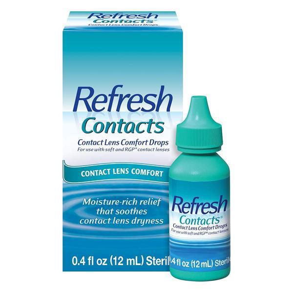 Refresh Contacts, Contact Lens Comfort Drops 12mL
