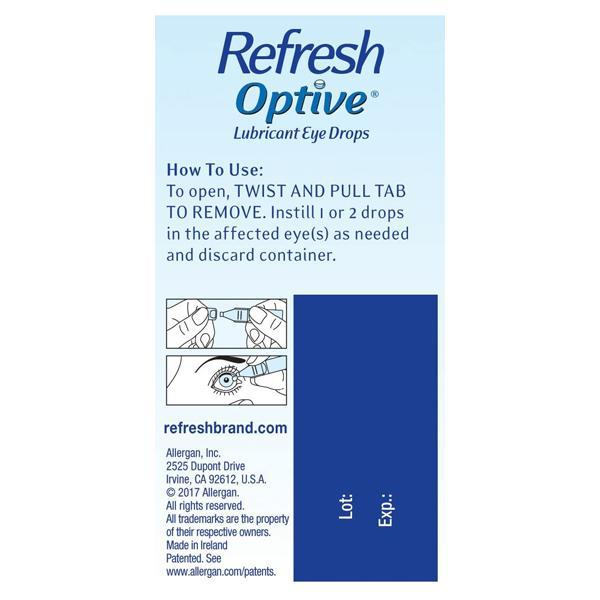 Refresh Optive Lubricant Single Use Eye Drops - 30 Count