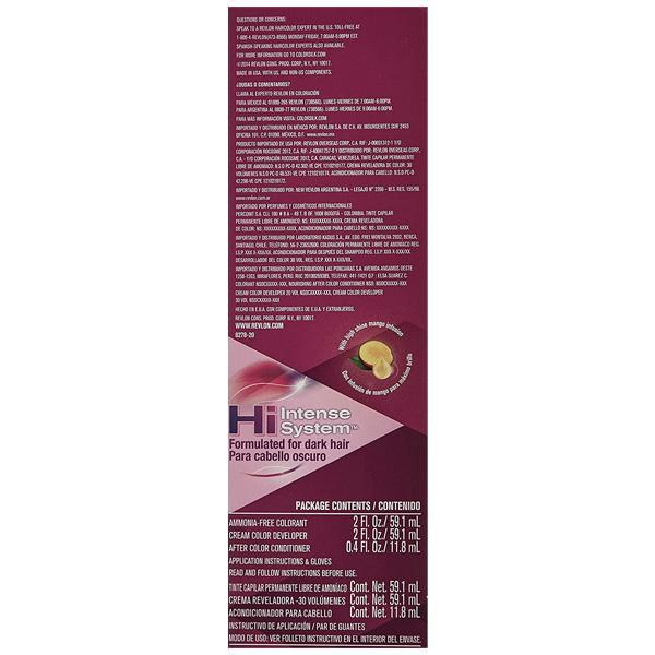 Revlon Colorsilk Luminista, Permanent Hair Color, 112 Burgundy Black - 2 Pack