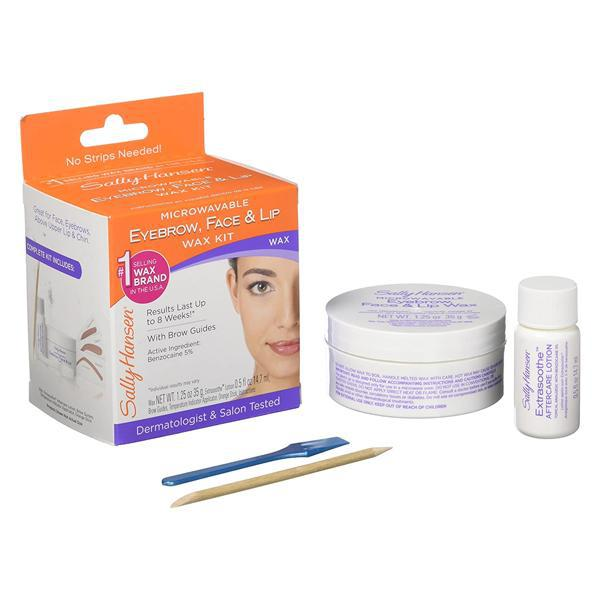 Sally Hansen 5001 Eyebrow, Face, Lip Stripless Face Wax Kit - 2 Pack