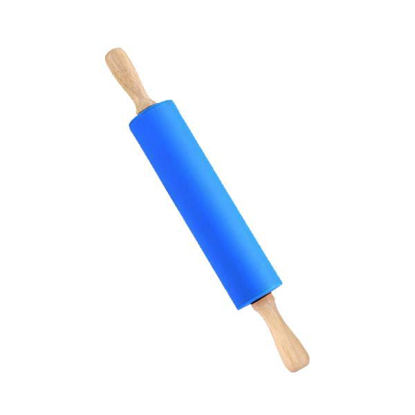 Non Stick Surface Wooden Handle Silicone Rolling Pin