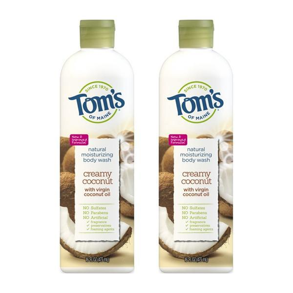Tom's of Maine Natural Moisturizing Body Wash, Creamy Coconut 16oz - 2 Pack