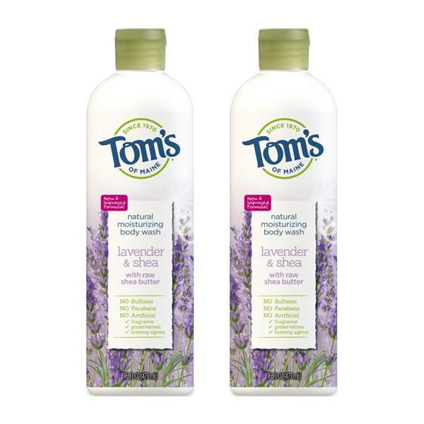 Tom's of Maine Natural Body Wash for Women, Lavender & Shea, 16oz - 2 Pack