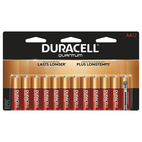 Duracell Quantum Alkaline Batteries AA - 12 Pack-Duracell-Deal Society