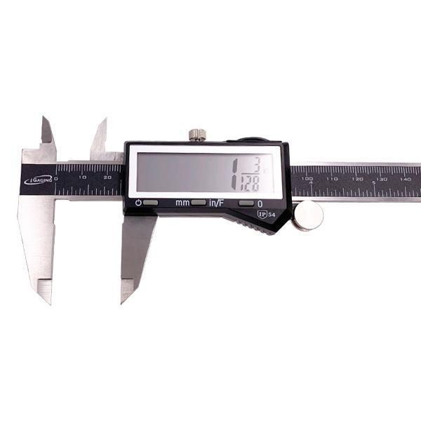 "iGaging EZ Cal 6"" inch Digital Electronic Caliper Fractional 3 Way LCD Stainless-iGaging-Deal Society"