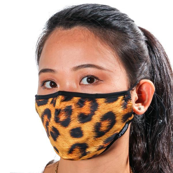 Fydelity Breathable Comfortable Fabric Cover Face Mask - Leopard