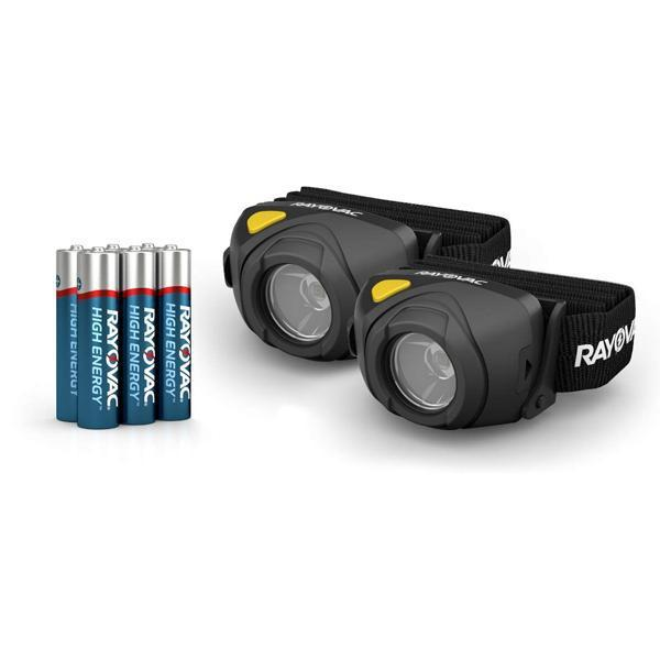 Rayovac 300 Lumens 2 Pack Durable Headlamp Flashlight Camping Survival Kit-Rayovac-Deal Society