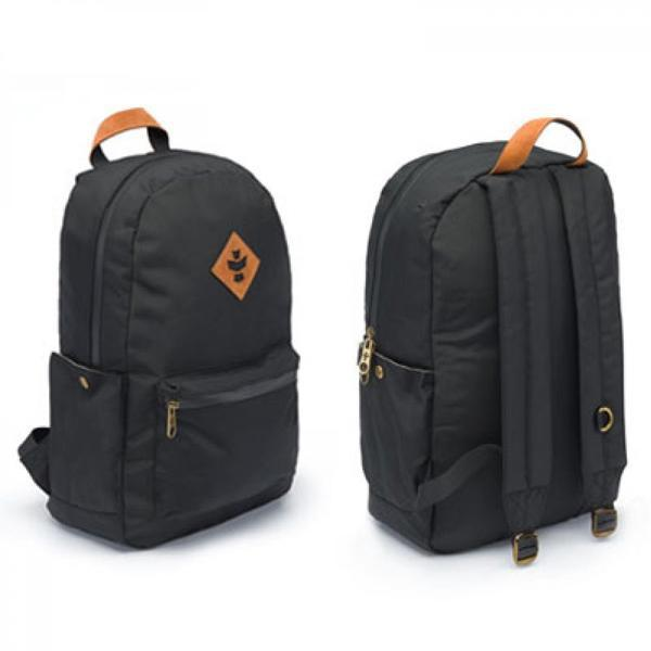 Revelry Escort Smell Proof Water Resistant Carbon Lined Back Pack-Revelry-Black-Deal Society