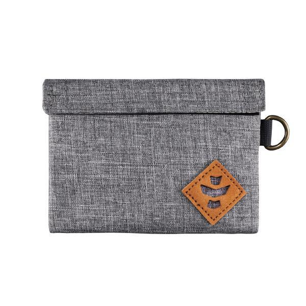 Revelry Mini Confidant Smell Proof Water Resistant Carbon Lined Bag-Revelry-Crosshatch Gray-Deal Society
