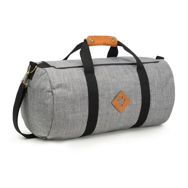 Revelry Overnighter Smell Proof Water Resistant Carbon Lined Duffel Bag-Revelry-Crosshatch Gray-Deal Society