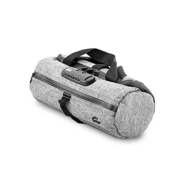 Skunk Duffle Tube Stash Storage Case - Eliminate Odor, Stink, and Smelly Scent in a Carbon Lined Airtight Storage case with Combo Lock-Skunk-Gray-Deal Society
