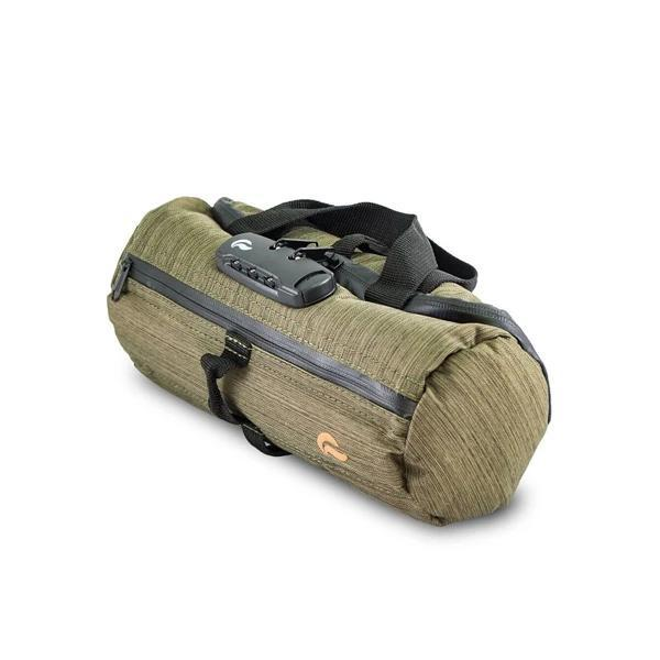 Skunk Duffle Tube Stash Storage Case - Eliminate Odor, Stink, and Smelly Scent in a Carbon Lined Airtight Storage case with Combo Lock-Skunk-Green-Deal Society