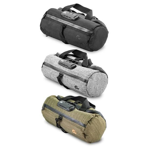 Skunk Duffle Tube Stash Storage Case - Eliminate Odor, Stink, and Smelly Scent in a Carbon Lined Airtight Storage case with Combo Lock-Skunk-Black-Deal Society