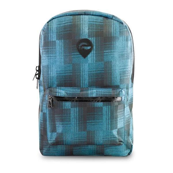 Skunk Element Smell Proof Weather Proof Back Pack - Storage Stash Bag with Combo Lock 100% Odor Proof-Skunk-Blue Plaid-Deal Society