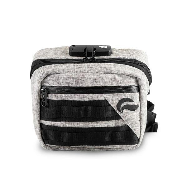 Skunk Kross Stash Storage Bag - Eliminate Odor, Stink, and Smelly Scent in a Carbon Lined Airtight Storage bag with Combo Lock-Skunk-Black-Deal Society