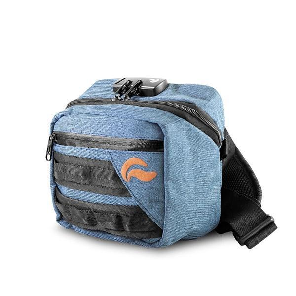 Skunk Kross Stash Storage Bag - Eliminate Odor, Stink, and Smelly Scent in a Carbon Lined Airtight Storage bag with Combo Lock-Skunk-Blue-Deal Society