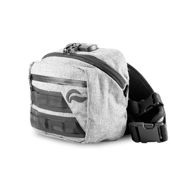 Skunk Kross Stash Storage Bag - Eliminate Odor, Stink, and Smelly Scent in a Carbon Lined Airtight Storage bag with Combo Lock-Skunk-Gray-Deal Society