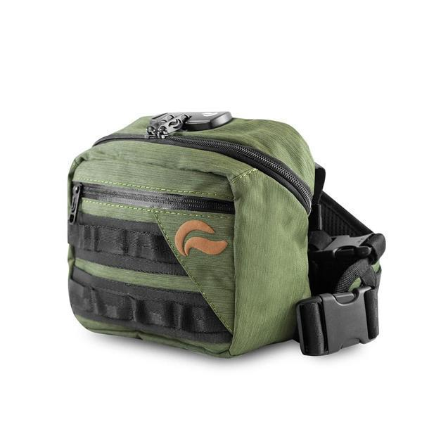 Skunk Kross Stash Storage Bag - Eliminate Odor, Stink, and Smelly Scent in a Carbon Lined Airtight Storage bag with Combo Lock-Skunk-Green-Deal Society