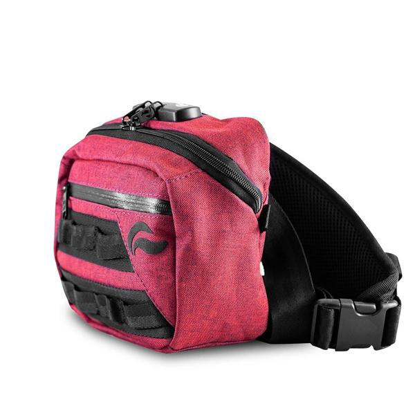 Skunk Kross Stash Storage Bag - Eliminate Odor, Stink, and Smelly Scent in a Carbon Lined Airtight Storage bag with Combo Lock-Skunk-Red-Deal Society