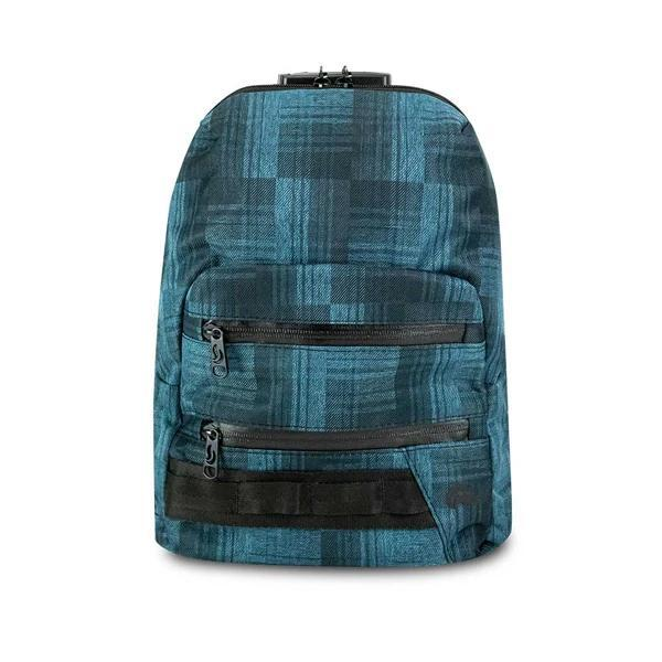 Skunk Smell Proof Mini Backpack Eliminate Odor, Stink, and Smelly Scent in a Carbon Lined Airtight Storage Bag-Skunk-Blue Plaid-Deal Society