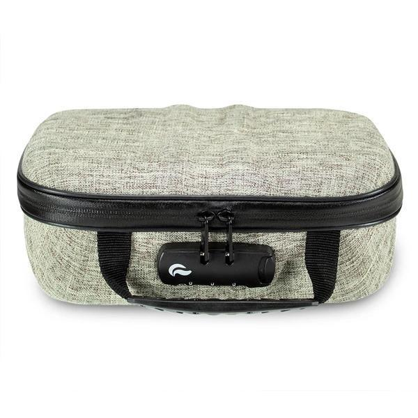 Skunk Smell Proof X-Case Stash Storage Case - Eliminate Odor, Stink, and Smelly Scent in a Carbon Lined Airtight Storage with Combo Lock-Skunk-Beige-Deal Society