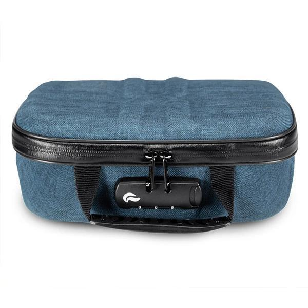 Skunk Smell Proof X-Case Stash Storage Case - Eliminate Odor, Stink, and Smelly Scent in a Carbon Lined Airtight Storage with Combo Lock-Skunk-Blue-Deal Society