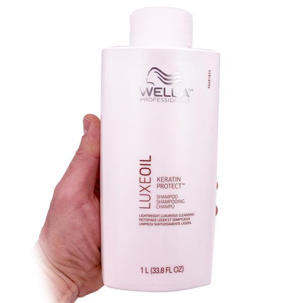 Wella Luxeoil Keratin Protect Lightweight Luxurious Shampoo - 1 Liter-Wella-Deal Society