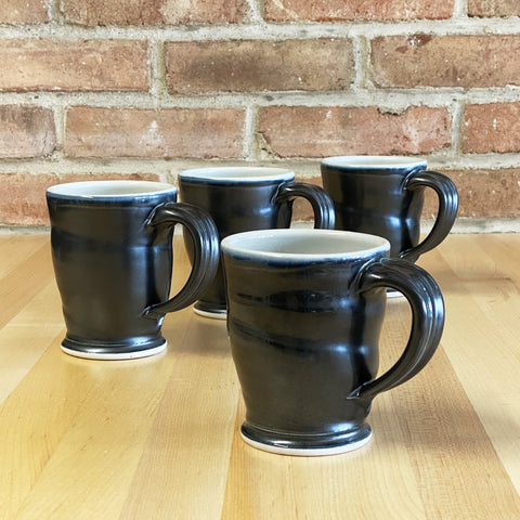 Mug in White | Black Glaze