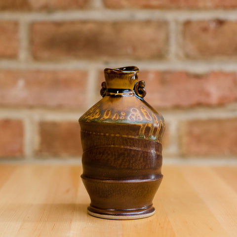 Bottle in Brown Ash | Black Glaze