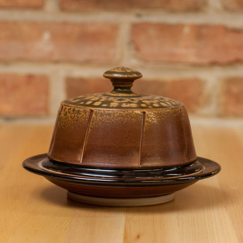 Cheese Dome in Brown Ash | Black Glaze