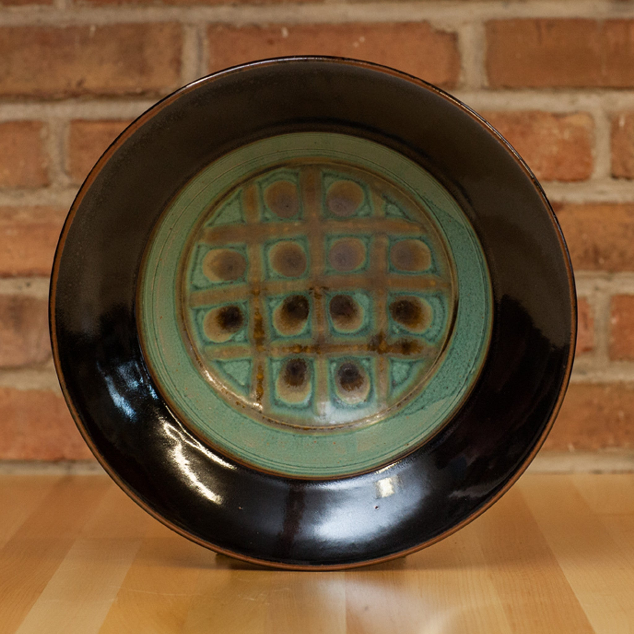 Royce Yoder - Serving Bowl in Copper | Black Glaze