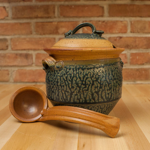 Tureen with Ladle in Tan | Ash Glaze
