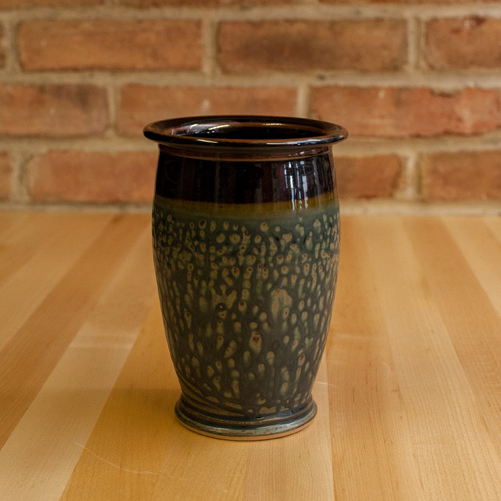Royce Yoder - Utensil Jar in Black | Ash Glaze