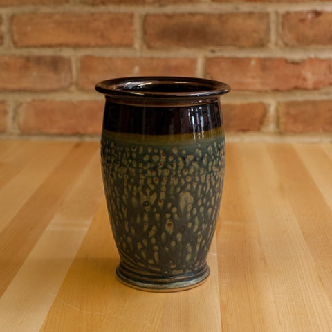 Utensil Jar in Black | Ash Glaze