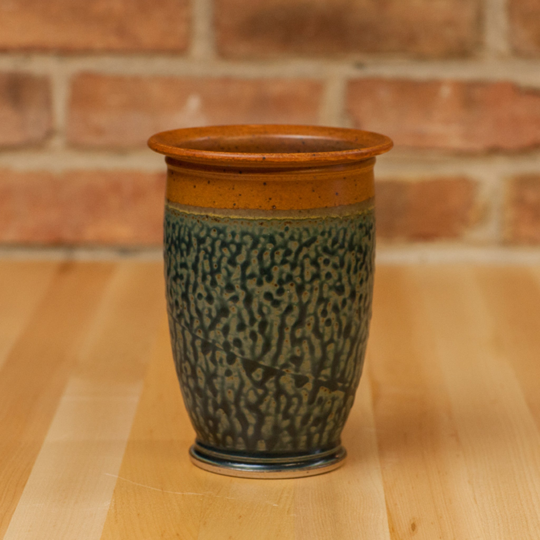 Royce Yoder - Utensil Jar in Tan | Ash Glaze