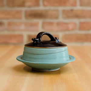 Cheese Dome in Copper | Black Glaze