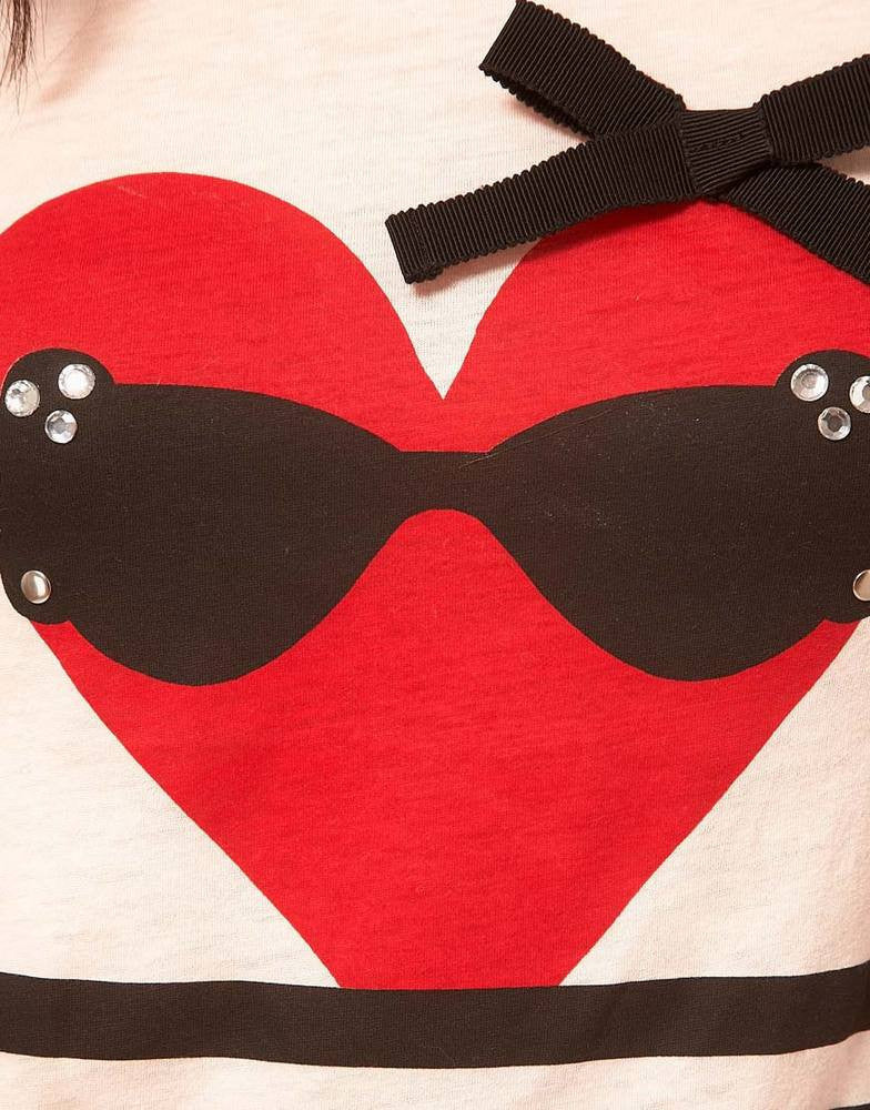 Sonia By Sonia Rykiel Heart & Stripe T Shirt