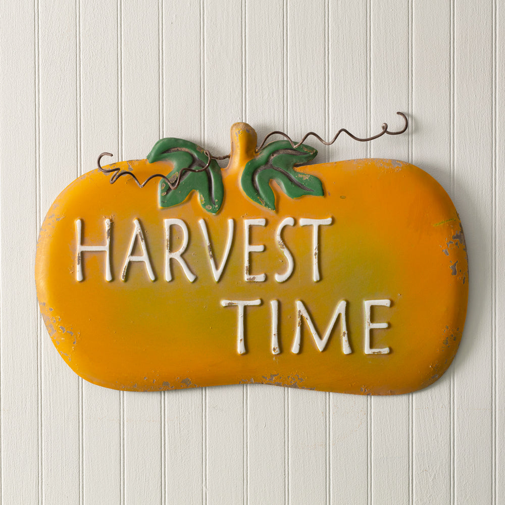 Harvest Time Metal Wall Sign 15¾'W x 12½''