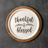 Thankful & Blessed Wall Décor 20''W