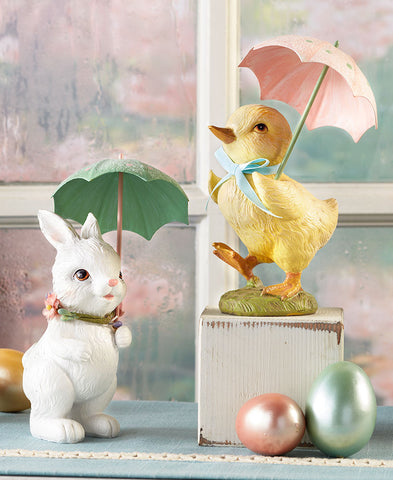 Vintage Springtime Showers Figurines