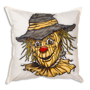 Scarecrow Cotton Throw Pillow